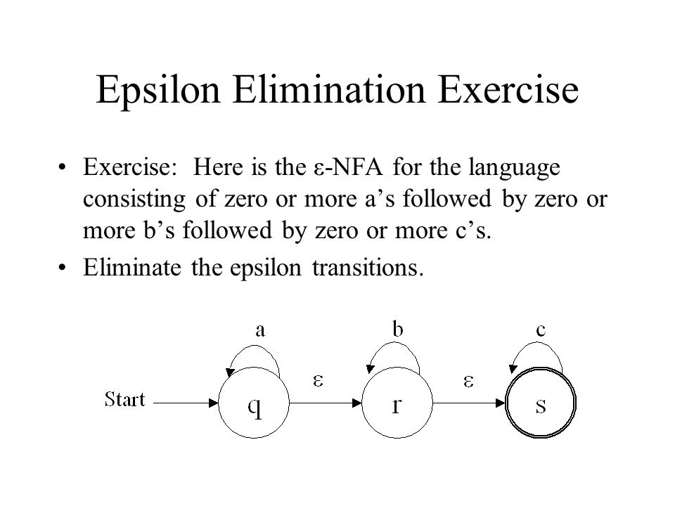 Epsilon Elimination Exercise