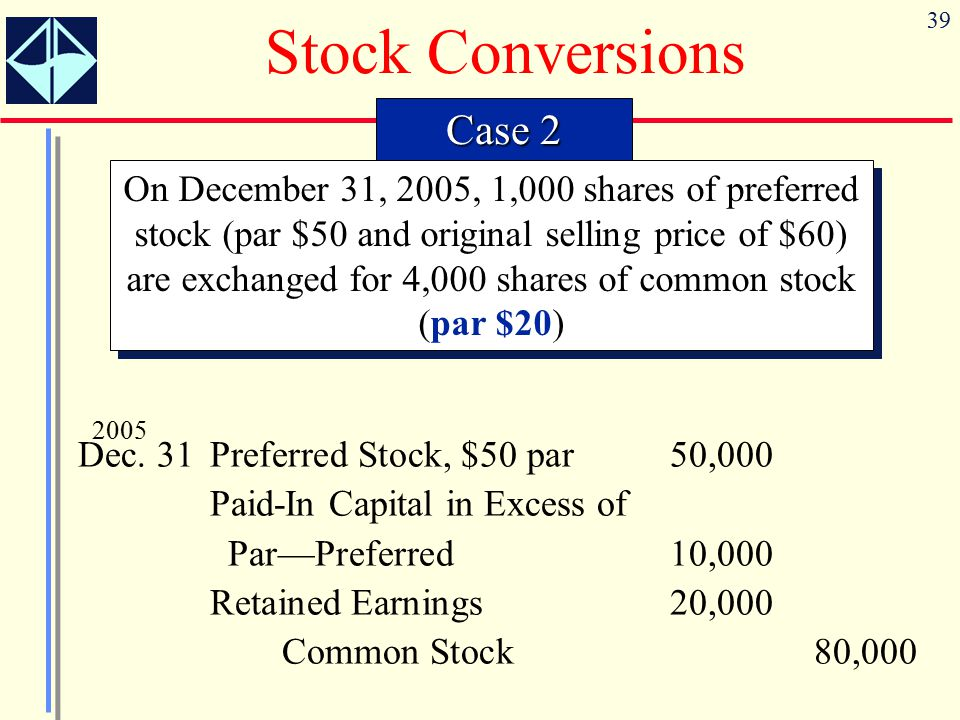 Stock Conversions Case 2
