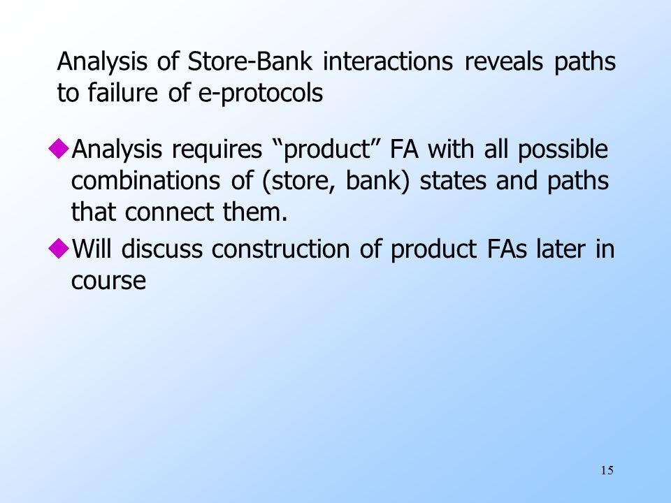 Analysis of Store-Bank interactions reveals paths to failure of e-protocols