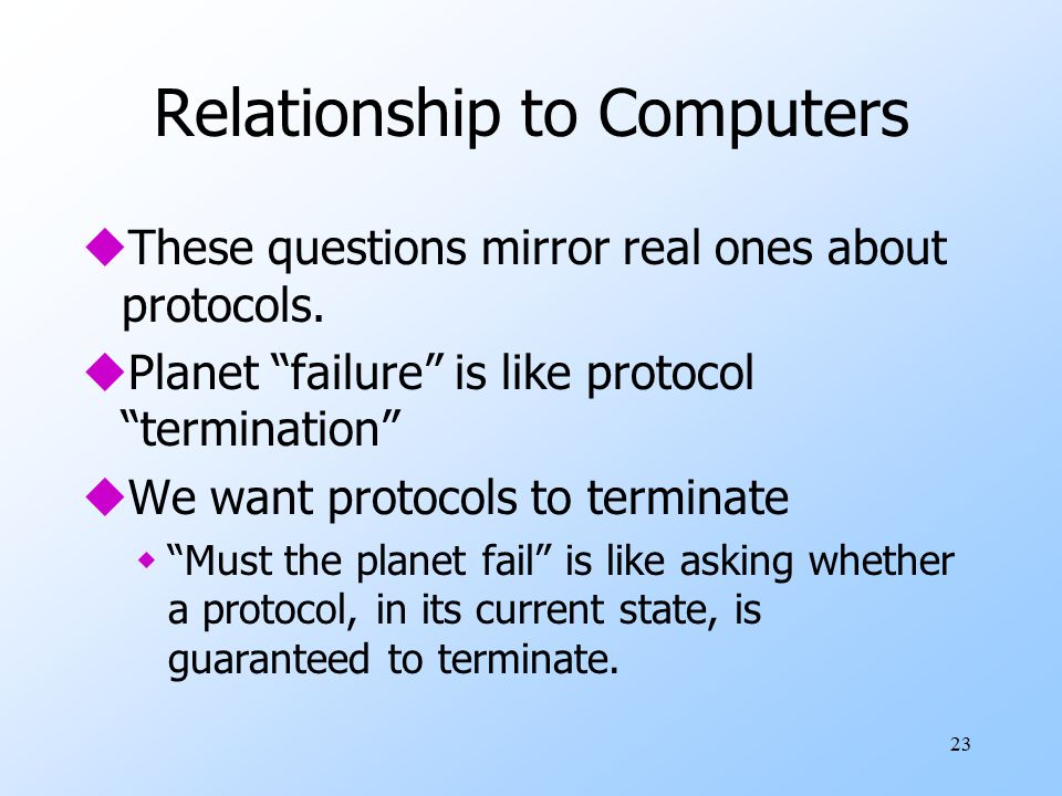 Relationship to Computers