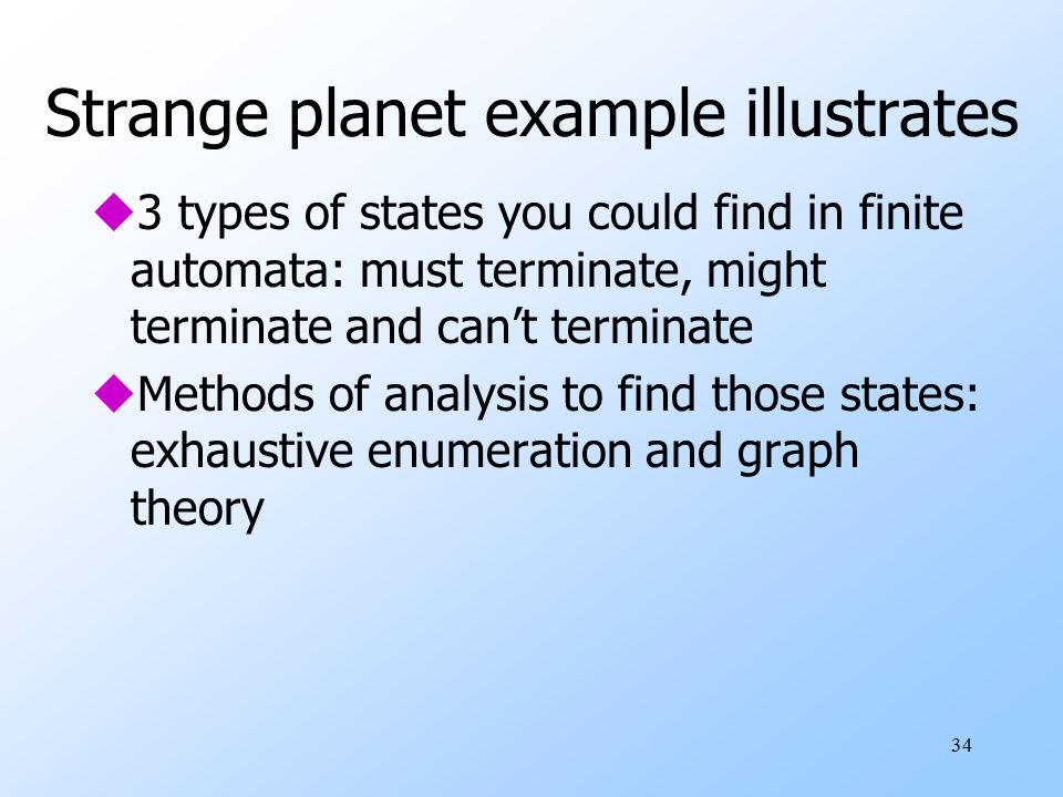 Strange planet example illustrates
