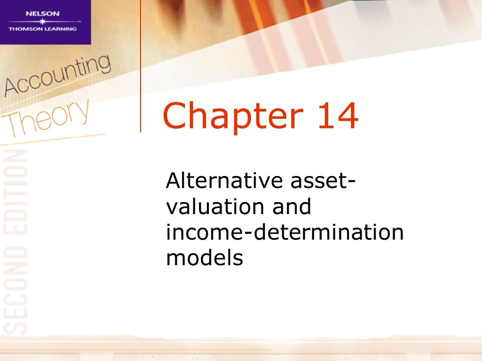 Alternative asset-valuation and income-determination models