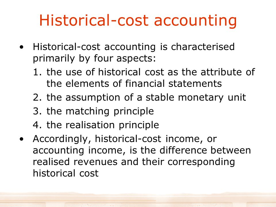 Historical-cost accounting