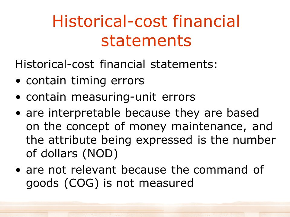 Historical-cost financial statements