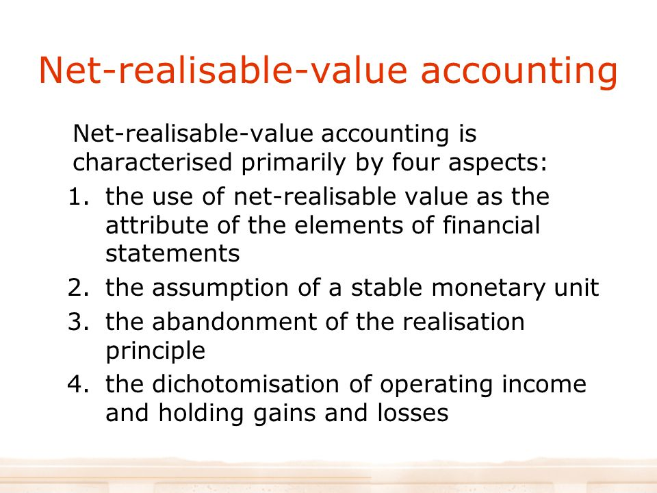 Net-realisable-value accounting