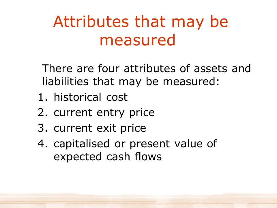 Attributes that may be measured