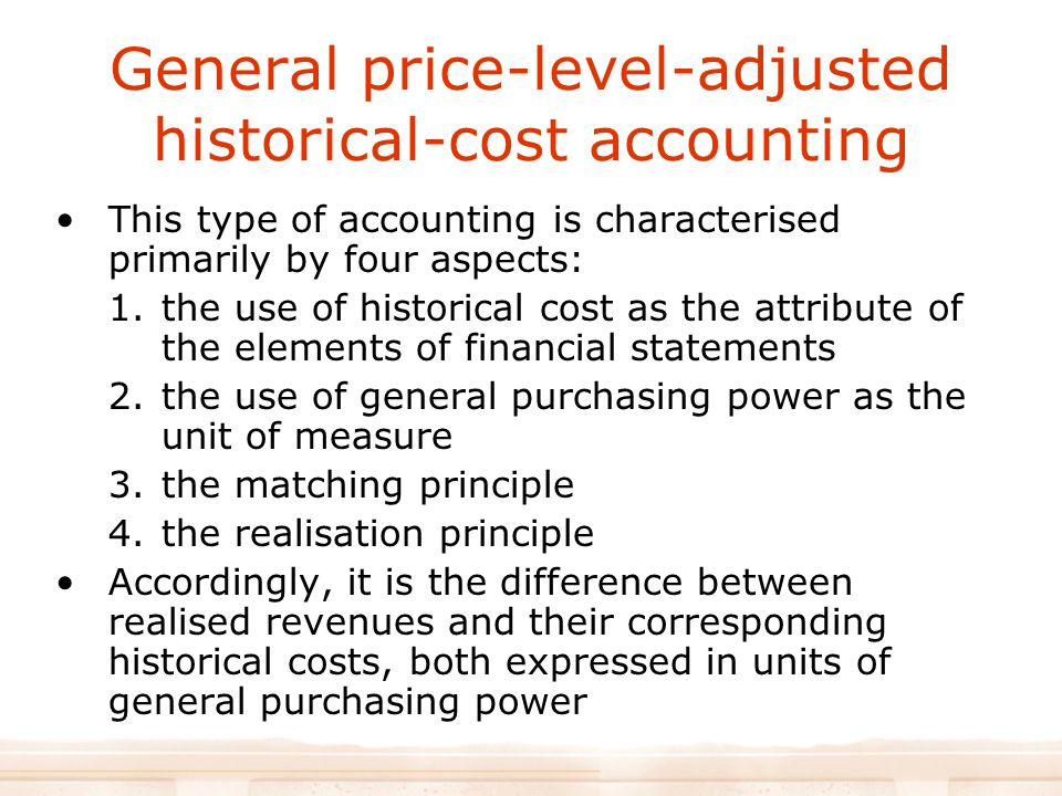 General price-level-adjusted historical-cost accounting