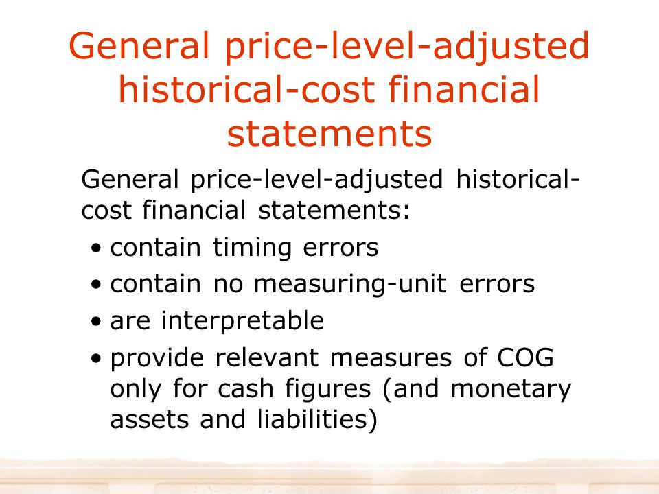 General price-level-adjusted historical-cost financial statements