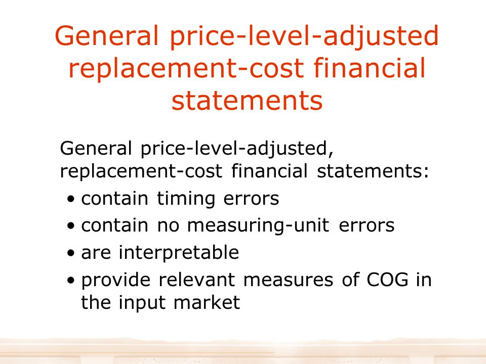 General price-level-adjusted replacement-cost financial statements