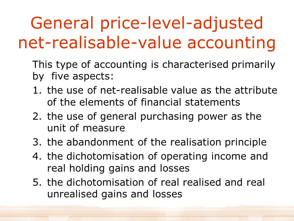 General price-level-adjusted net-realisable-value accounting