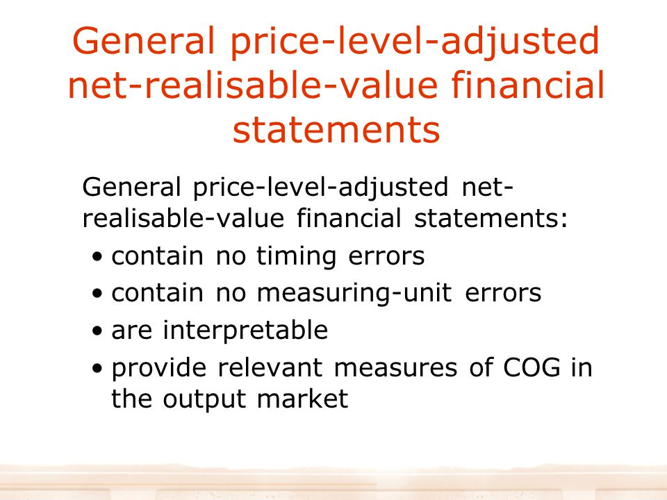 General price-level-adjusted net-realisable-value financial statements
