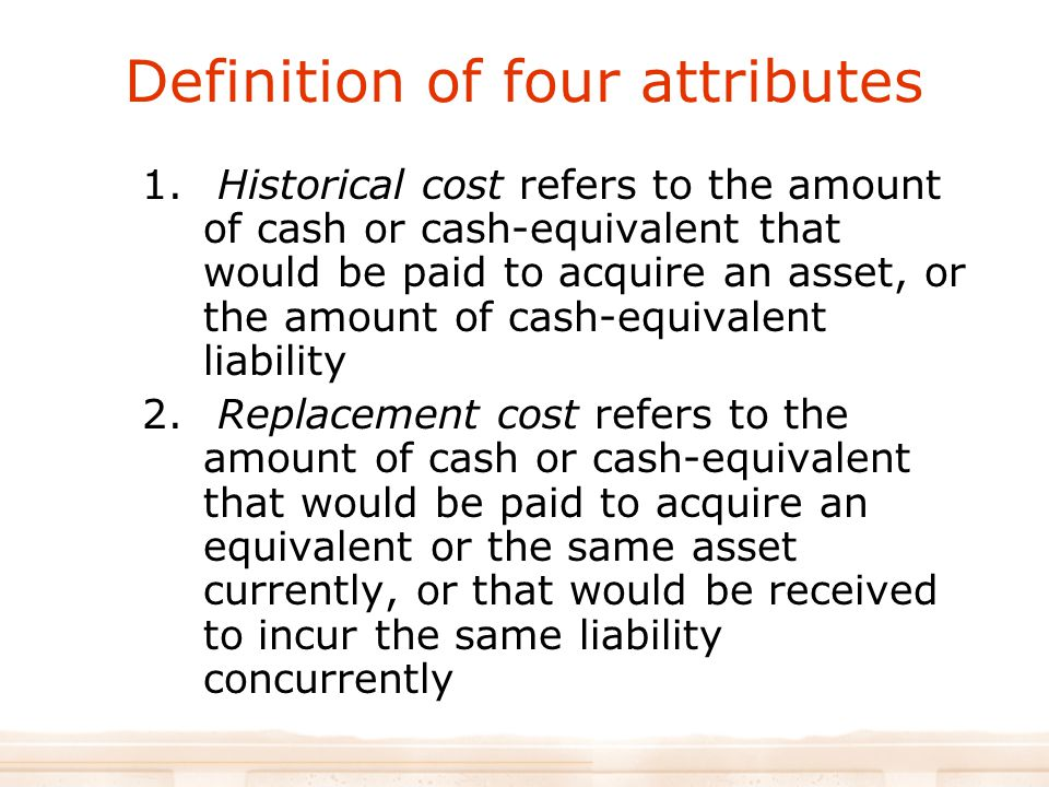 Definition of four attributes