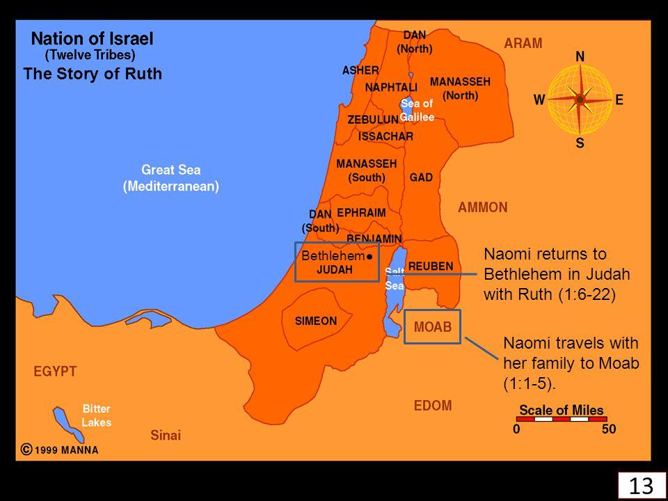 The Story of Ruth Naomi returns to Bethlehem in Judah