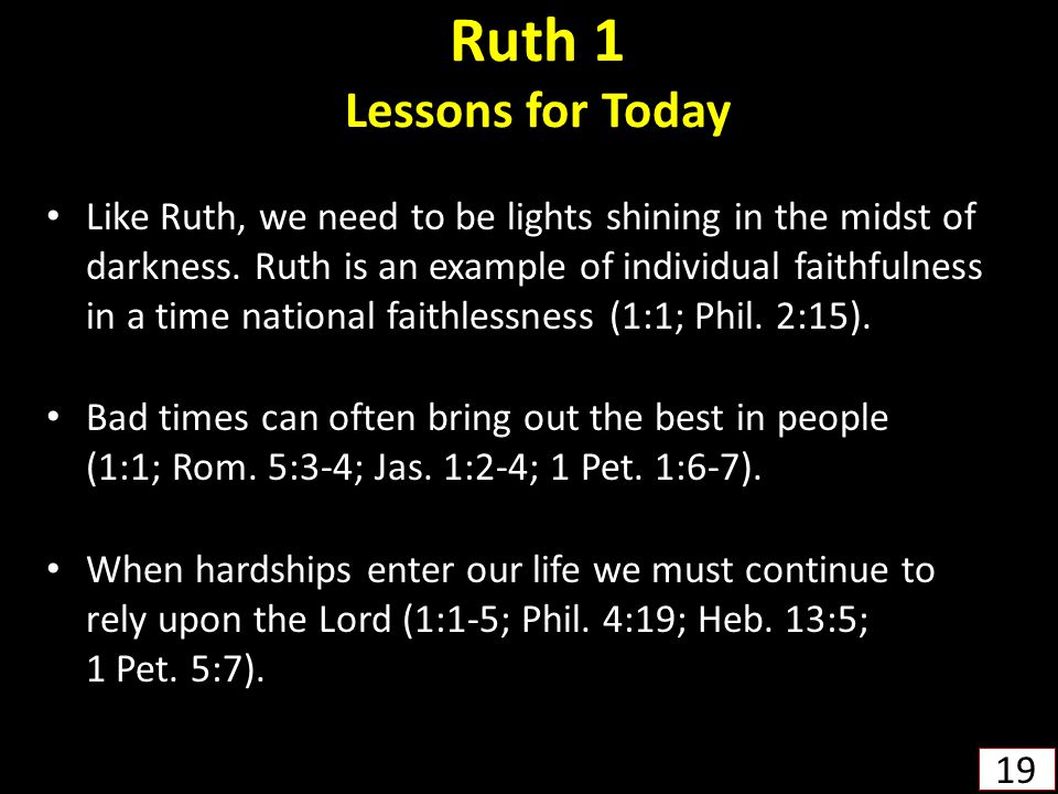 Ruth 1 Lessons for Today