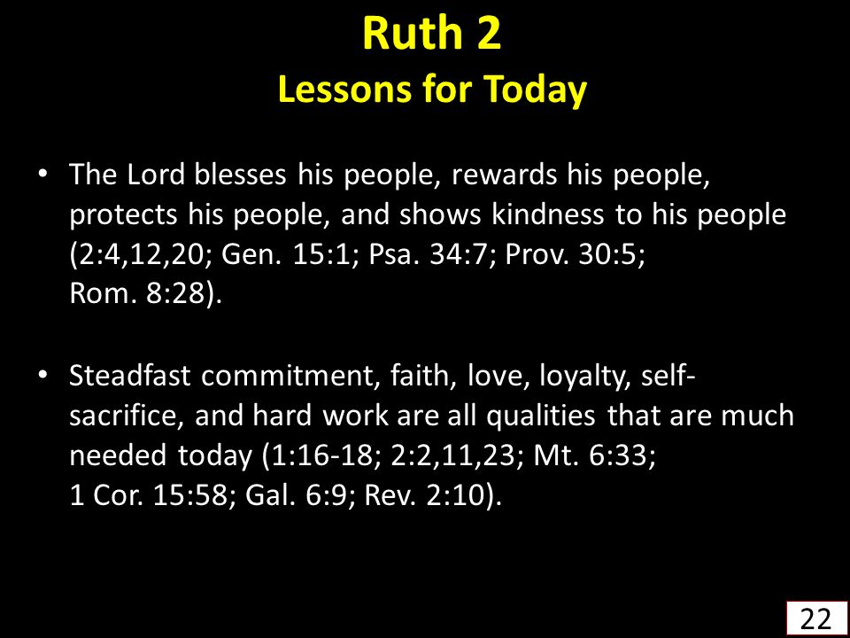 Ruth 2 Lessons for Today