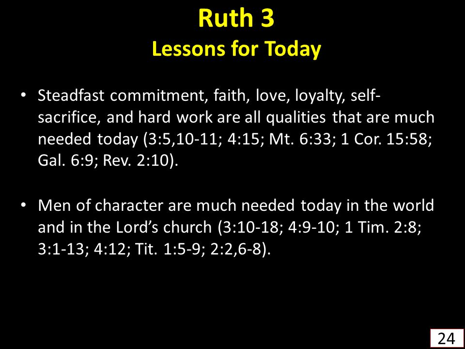 Ruth 3 Lessons for Today