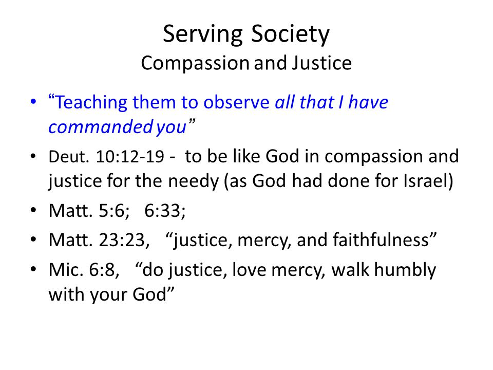 Serving Society Compassion and Justice