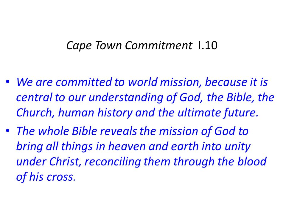 Cape Town Commitment I.10