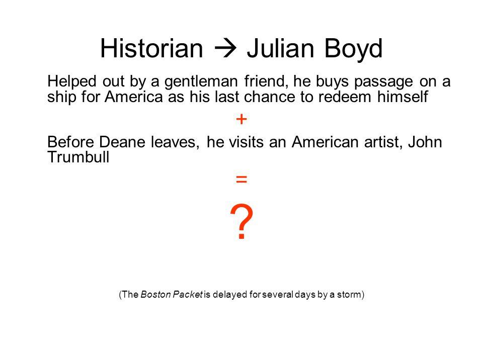 Historian  Julian Boyd