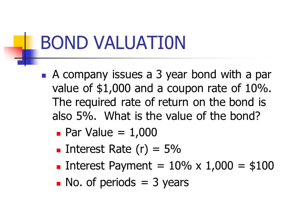 BOND VALUATI0N