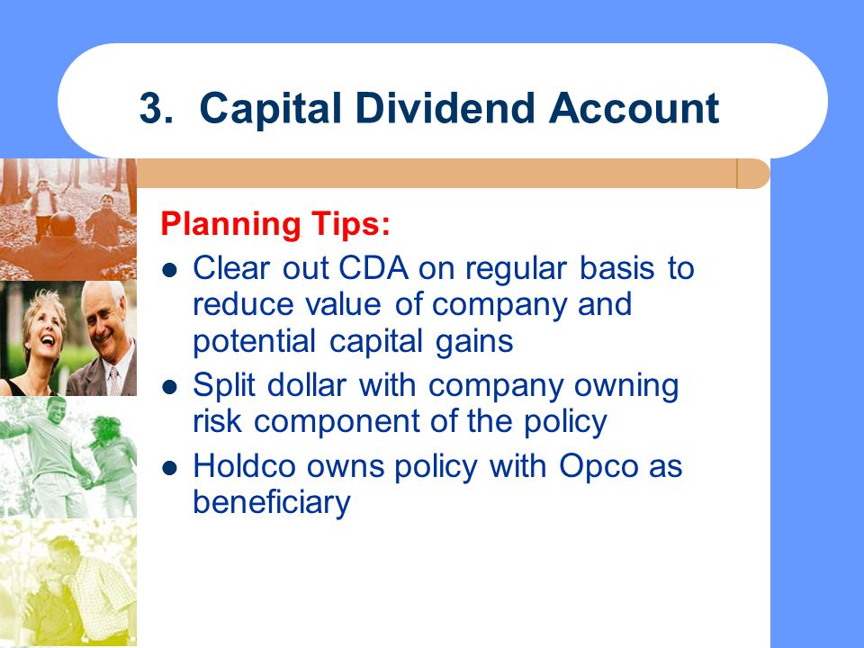 3. Capital Dividend Account