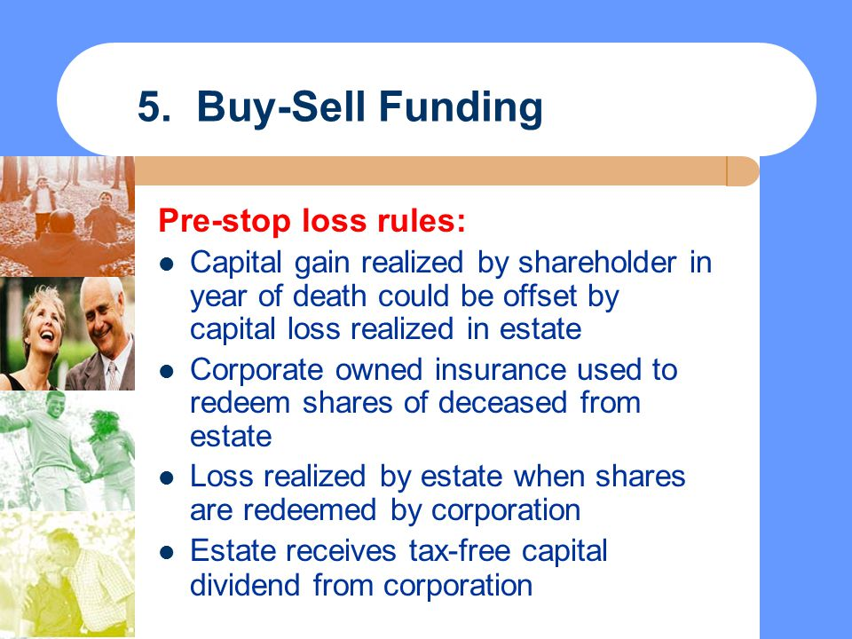 5. Buy-Sell Funding Pre-stop loss rules: