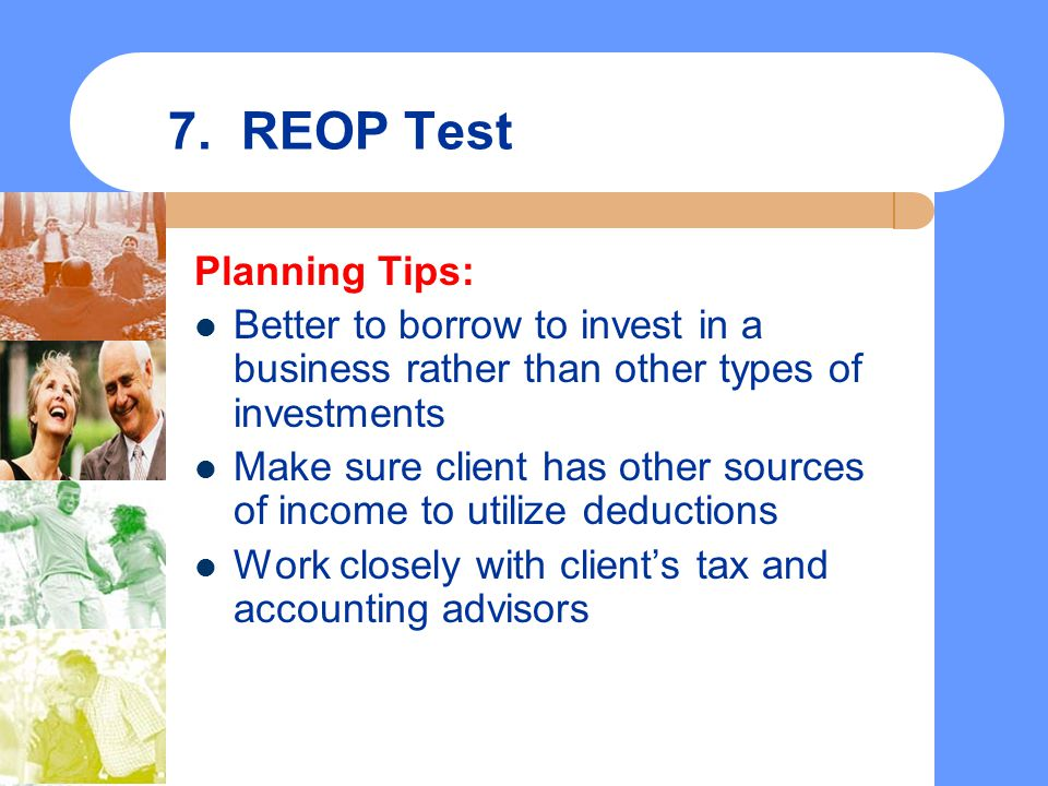 7. REOP Test Planning Tips:
