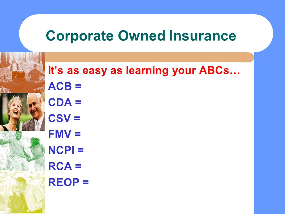 Corporate Owned Insurance