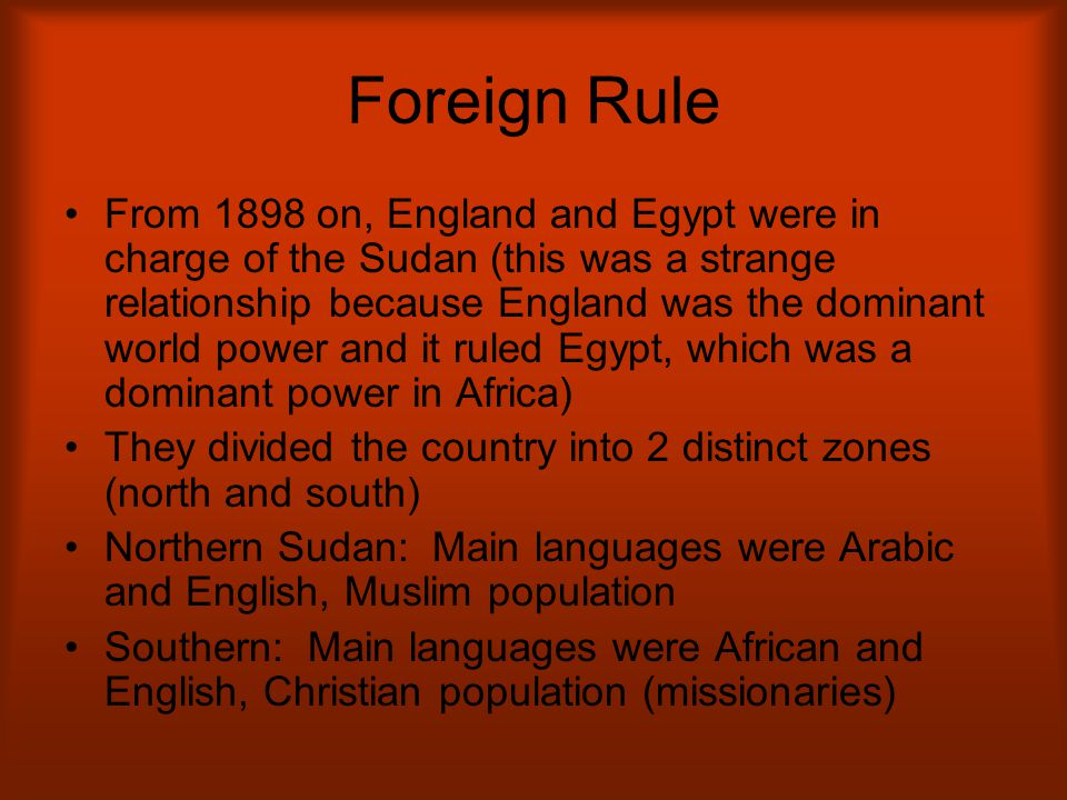 Foreign Rule