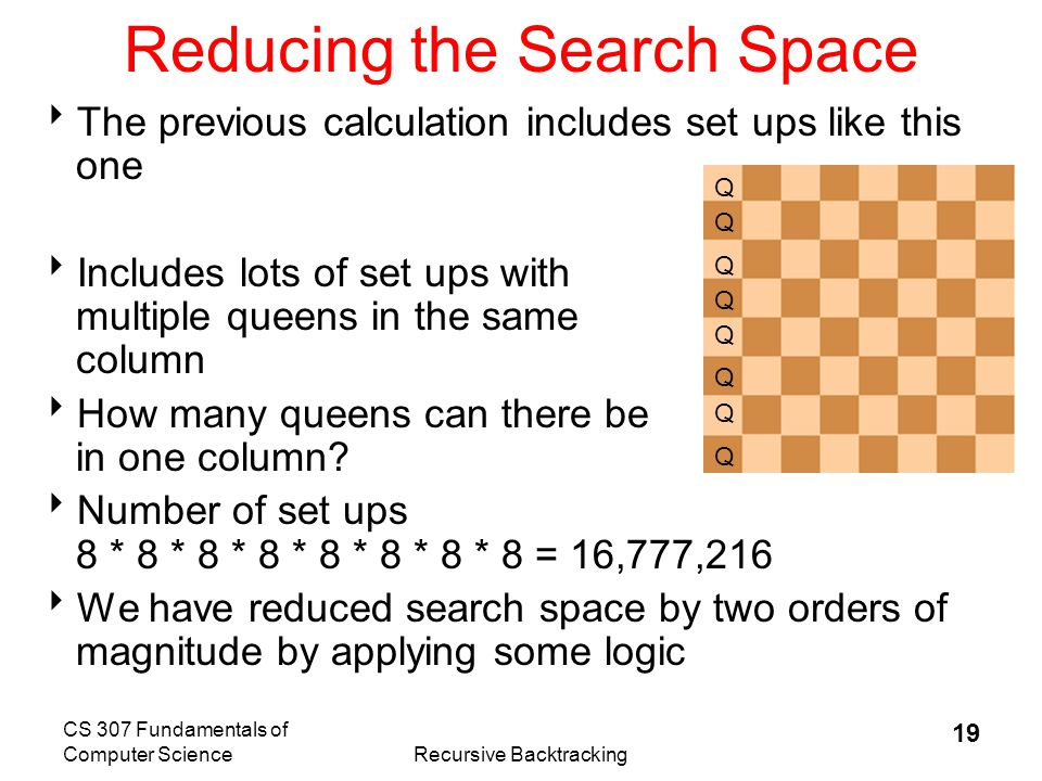 Reducing the Search Space