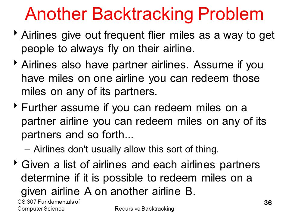 Another Backtracking Problem