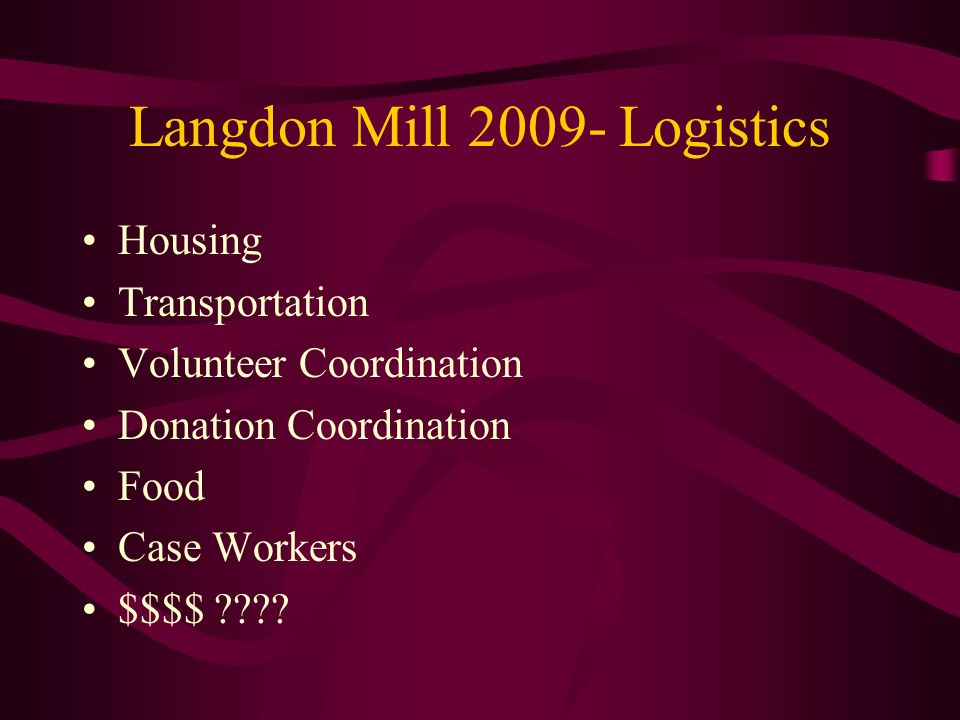 Langdon Mill Logistics