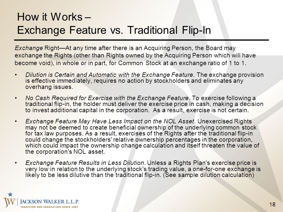 How it Works – Exchange Feature vs. Traditional Flip-In
