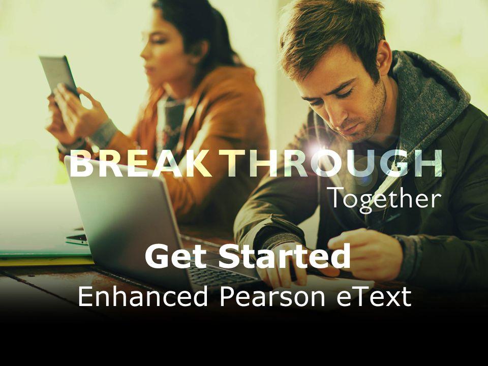 Enhanced Pearson eText