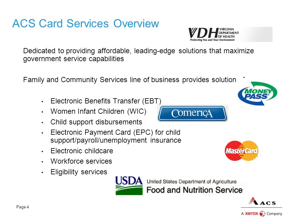 ACS Card Services Overview