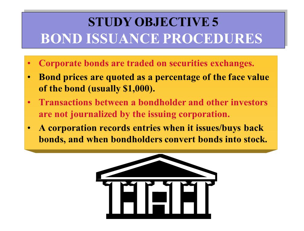 BOND ISSUANCE PROCEDURES