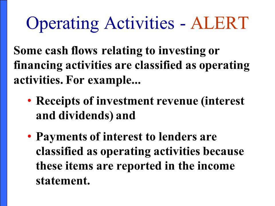 Operating Activities - ALERT