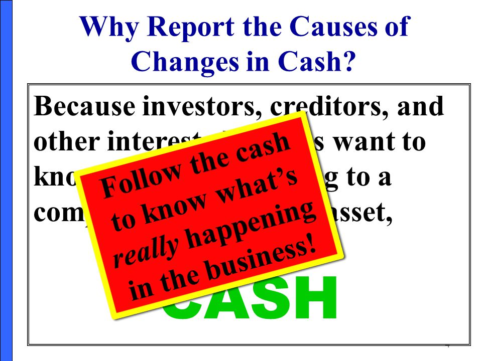 Why Report the Causes of Changes in Cash