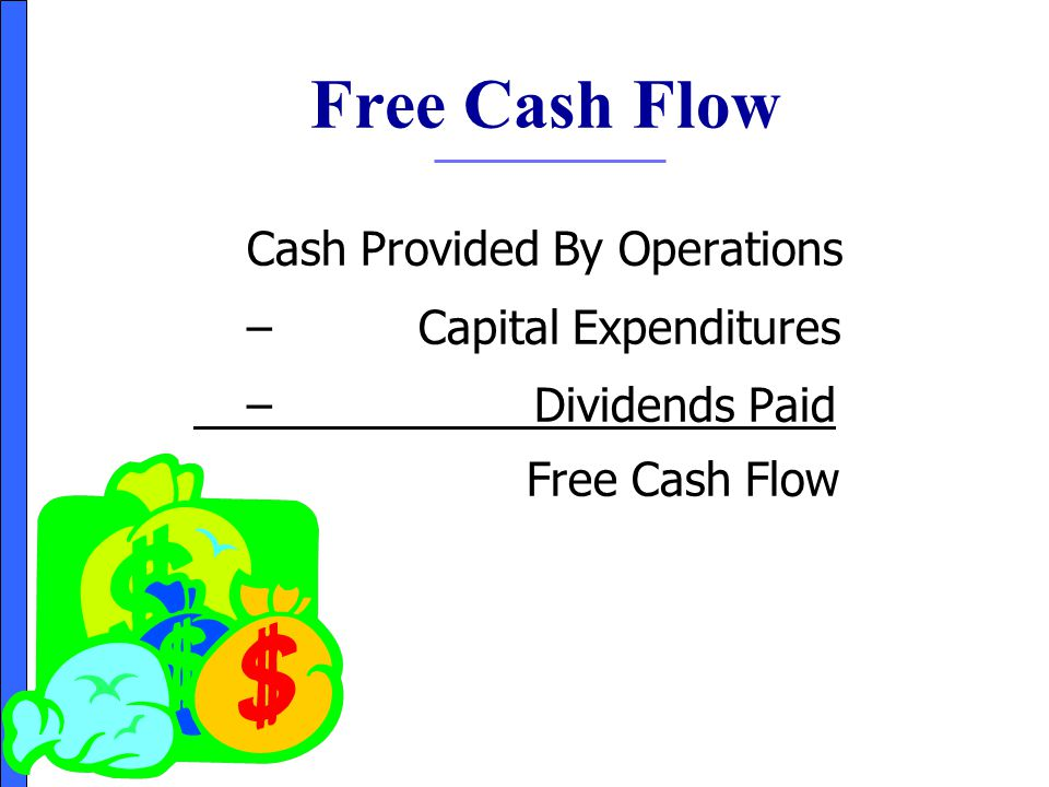 Free Cash Flow Cash Provided By Operations – Capital Expenditures