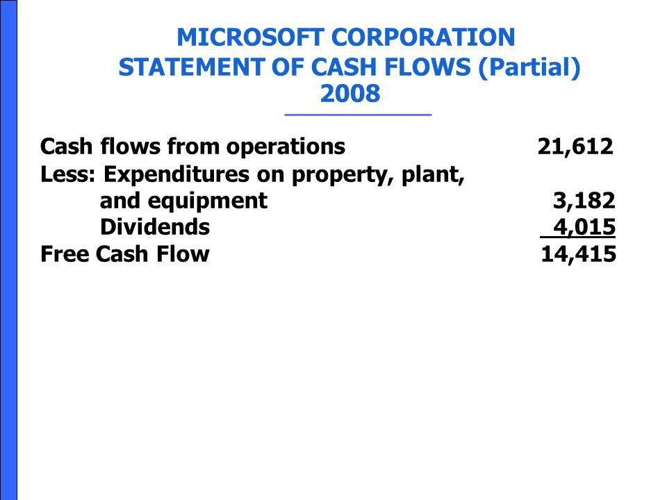 STATEMENT OF CASH FLOWS (Partial)