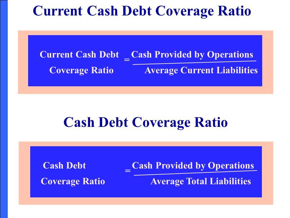 Current Cash Debt Coverage Ratio Cash Debt Coverage Ratio