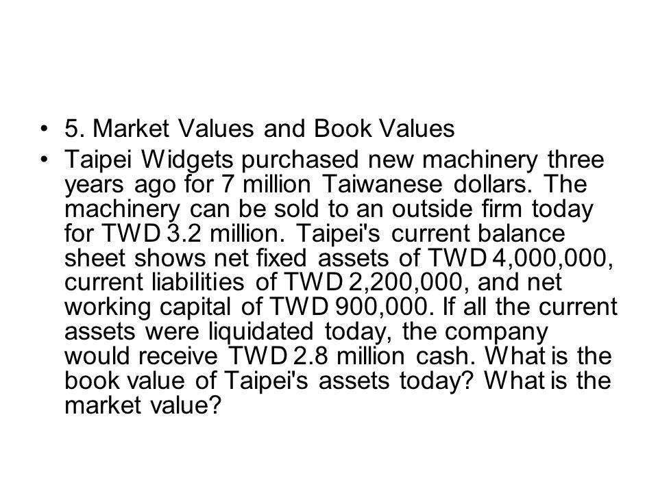 5. Market Values and Book Values