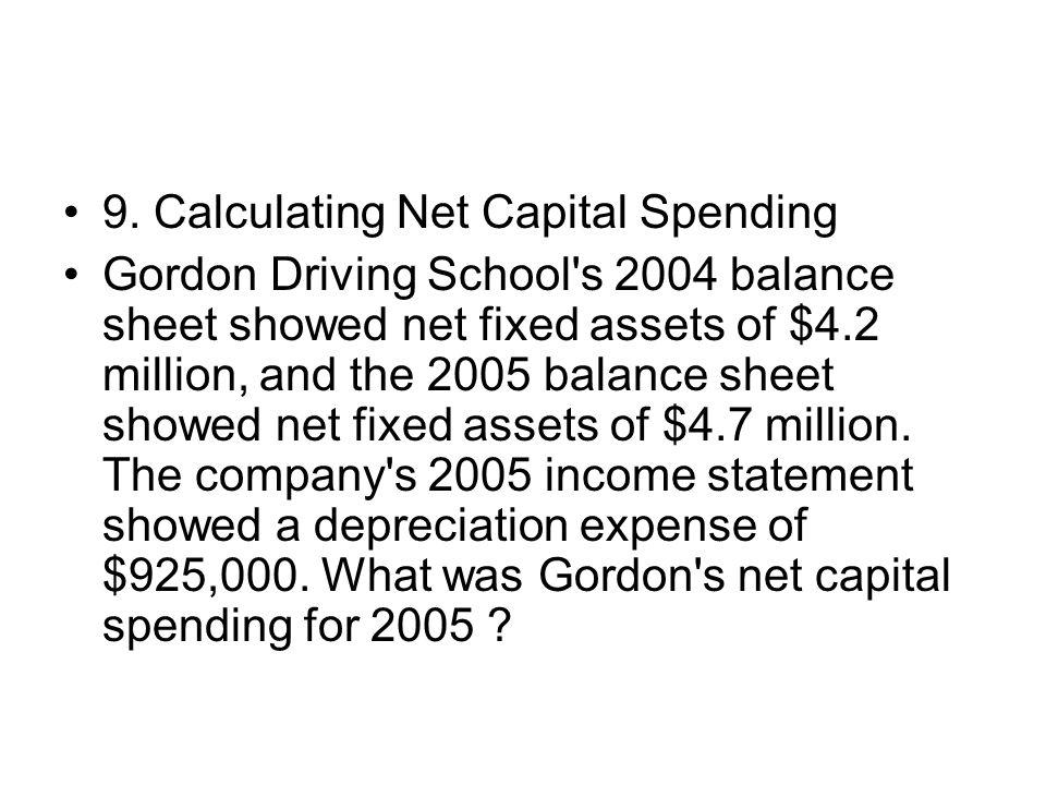 9. Calculating Net Capital Spending