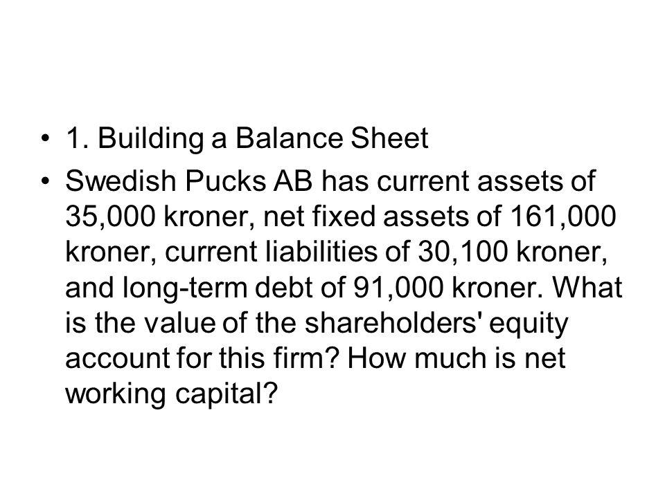 1. Building a Balance Sheet