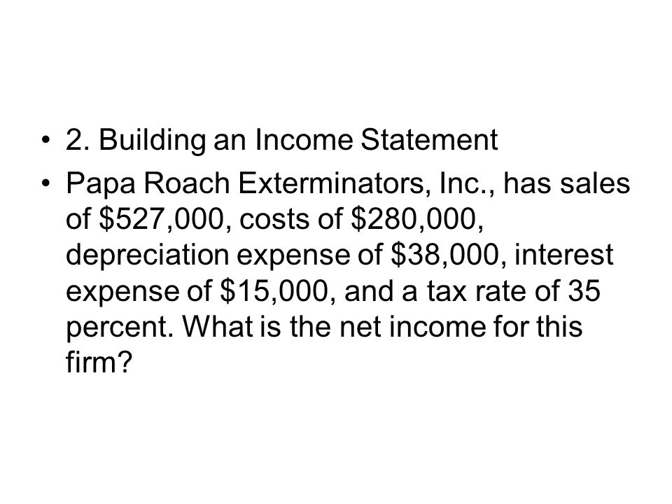 2. Building an Income Statement