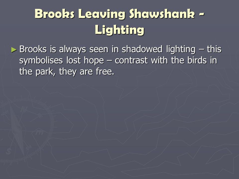 Brooks Leaving Shawshank - Lighting