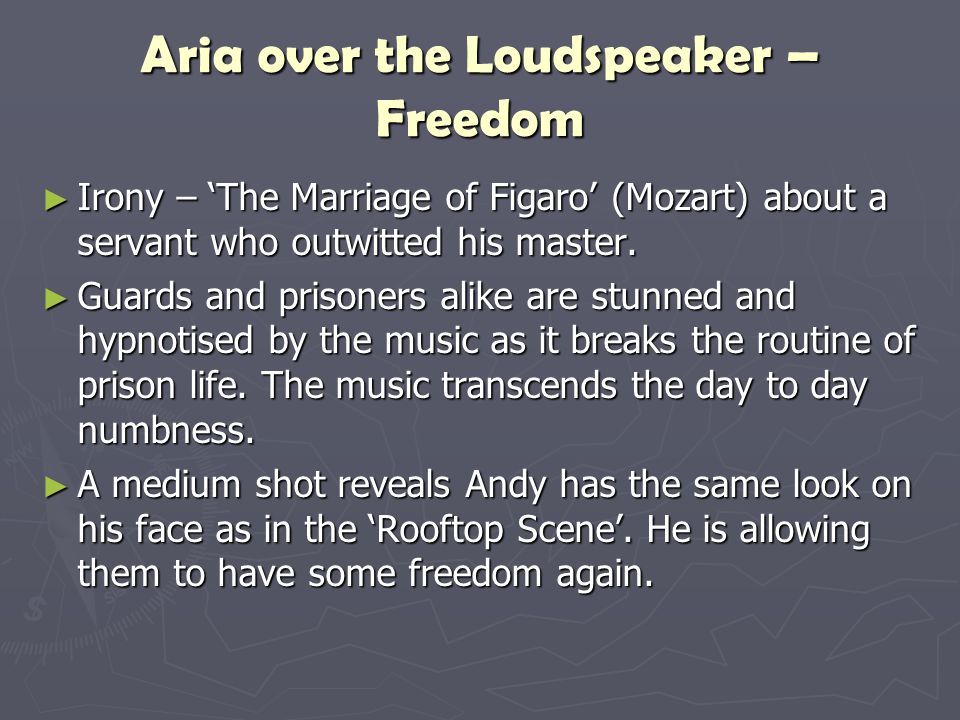 Aria over the Loudspeaker – Freedom