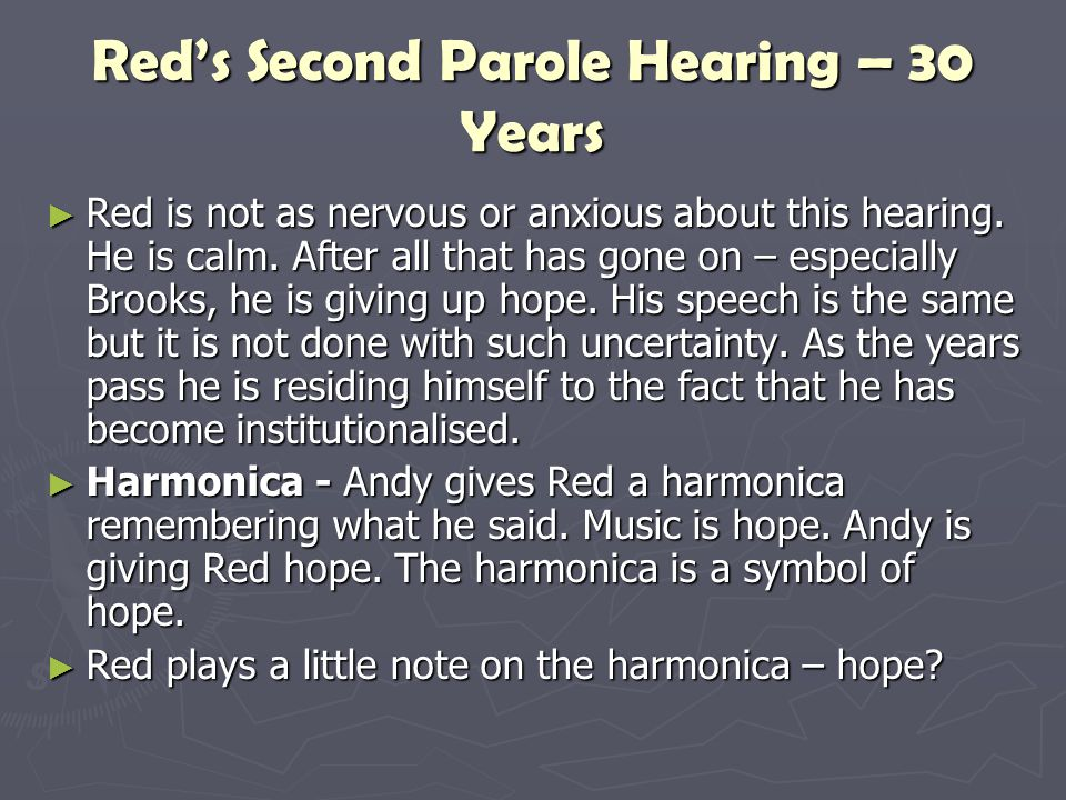 Red's Second Parole Hearing – 30 Years