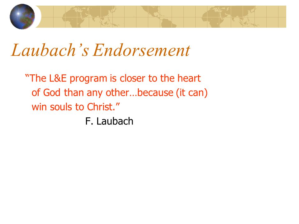 Laubach's Endorsement