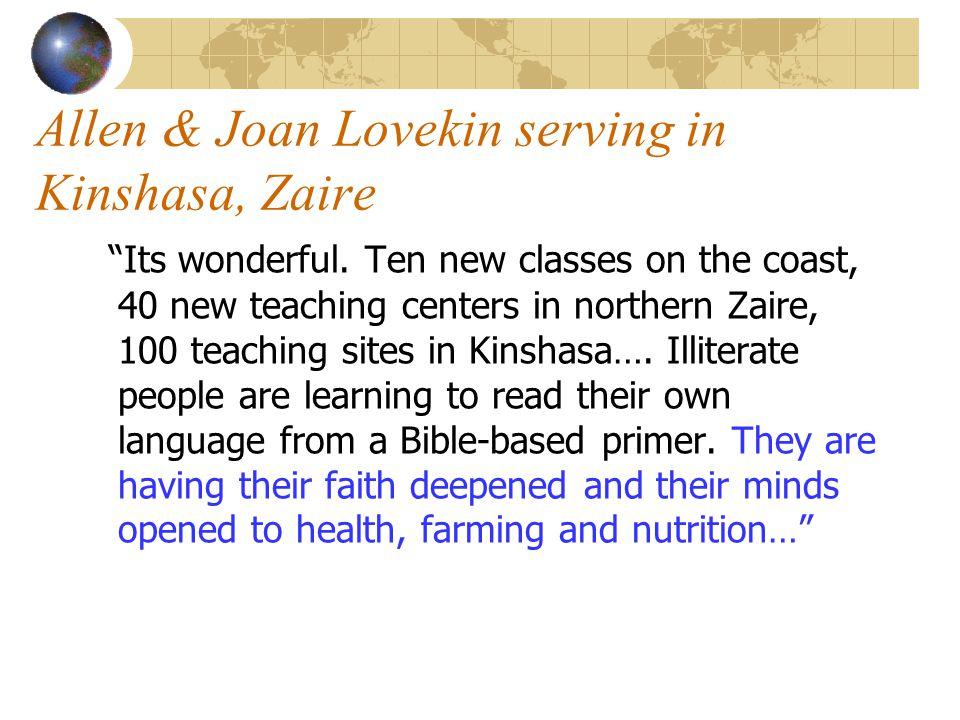 Allen & Joan Lovekin serving in Kinshasa, Zaire